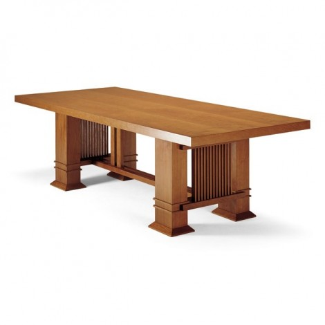 Re-edition of Allen table by Frank Lloyd Wright in solid cherry wood