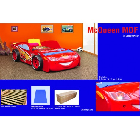 Lettino Saetta Mc Queen in abs dal cartone animato Cars