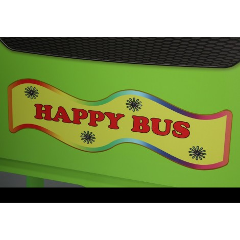 HAPPY BUS bunk bed for children in MDF with bed base and mattress