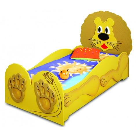 Single bed for children in mdf model LION