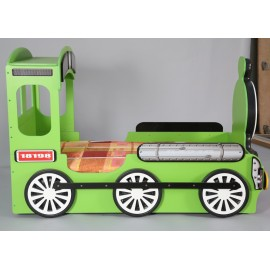 Green or red train bed for boys and girls