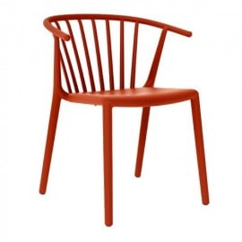 Woody outdoor chair in stackable polypropylene available in several colors