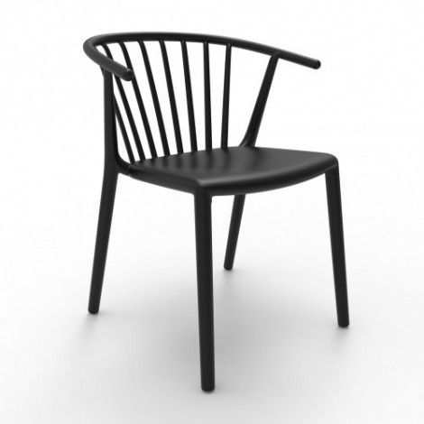 Woody outdoor stackable polypropylene chair available in several colors