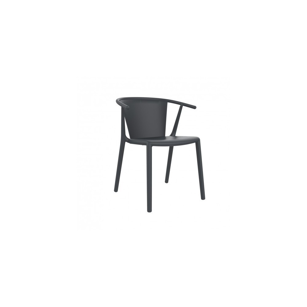 Outdoor chair steely in polypropylene and fibreglass for Arredamento outdoor online