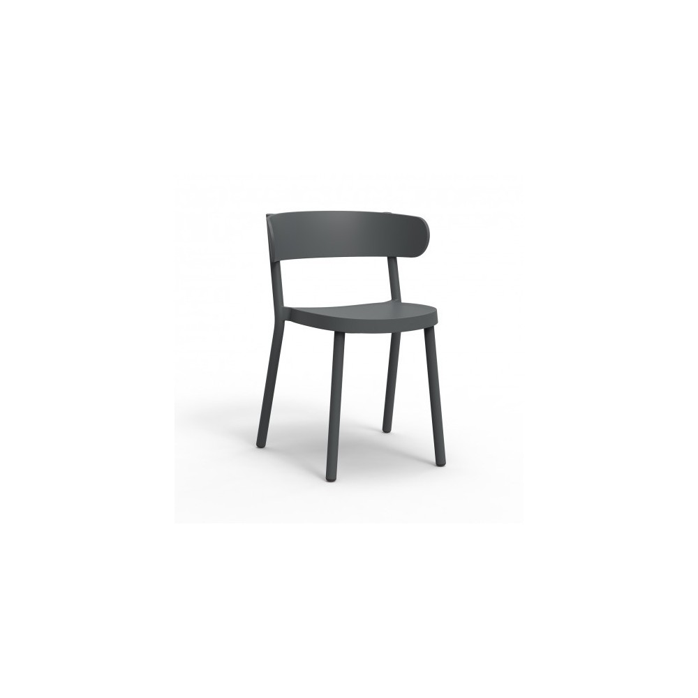 Casino outdoor or indoor chair in stackable polypropylene available in several colors