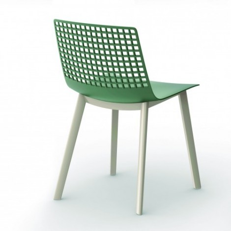 Click outdoor chair in polypropylene with perforated back available in several colors