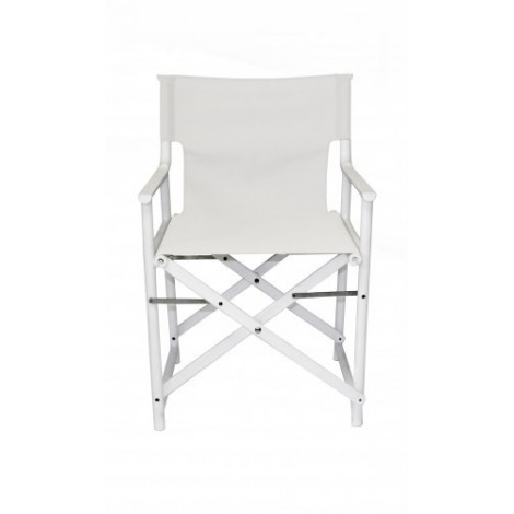 Boss Blanca outdoor chair in polypropylene and seat in fabric very resistant to atmospheric agents