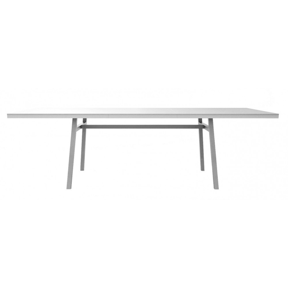 Barcino 180 fixed outdoor table in anodized and painted aluminum available in 3 finishes