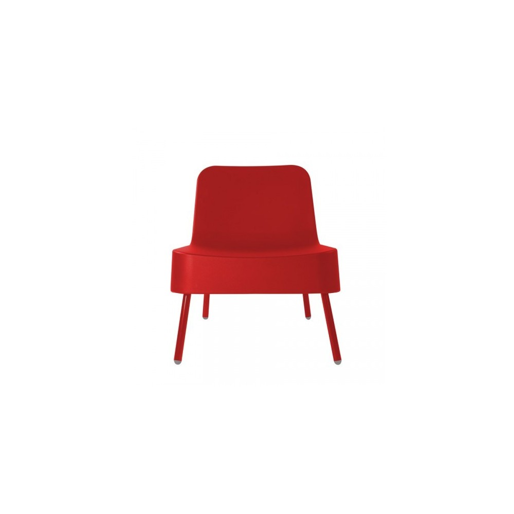 Bob outdoor armchair in polyethylene with aluminum structure available in two colors