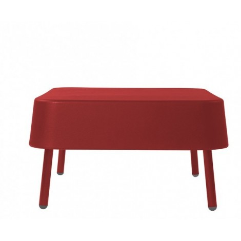 Bob polyethylene outdoor footrest with aluminum structure available in 3 colors