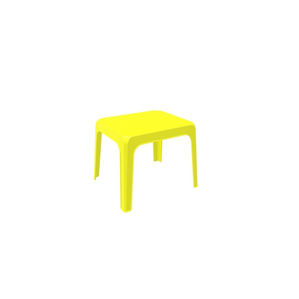 Jan outdoor table in polypropylene available in many colors suitable for gardens or swimming pools
