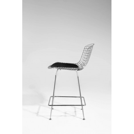 Re-edition of Diamond Bertoia stool with leather or fabric cushion