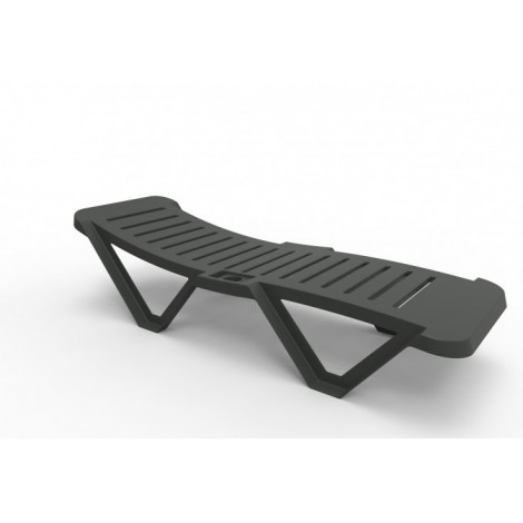 Costa Brava outdoor chaise longue in stackable polypropylene available in two colors
