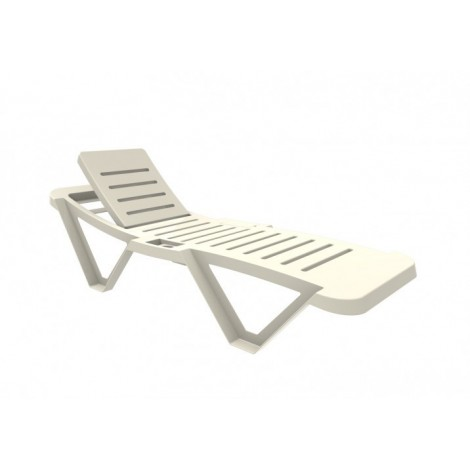 Stackable deckchair Master with 5-position reclining backrest available in 3 colors