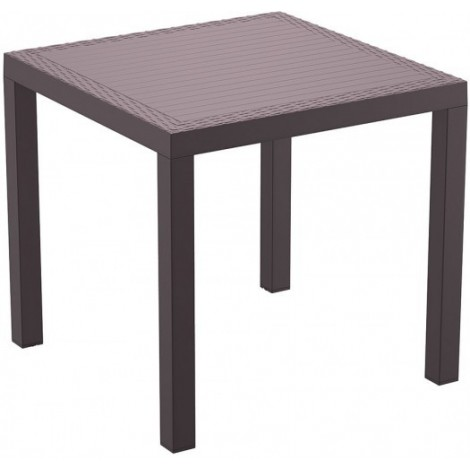 Indian outdoor table in polypropylene available in two sizes and in brown color