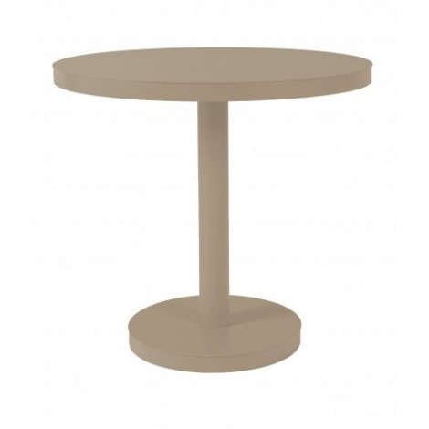 Round Barcino Round outdoor table in aluminum available in 2 sizes