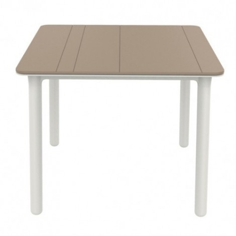 Noa outdoor table in polypropylene 90 x 90 cm available in three finishes