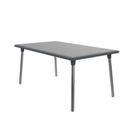 New Flash outdoor table with polypropylene top and aluminum legs available in 2 sizes