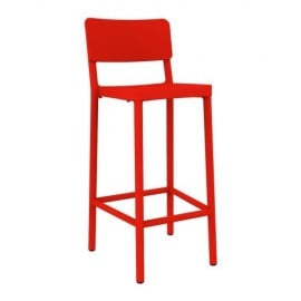 Lisboa polypropylene outdoor stool available in many colors