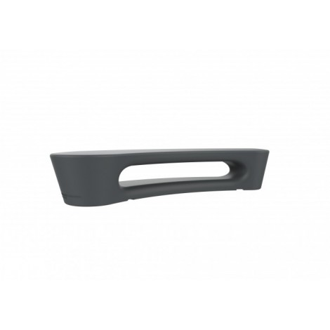 Boomerang outdoor bench in rotomolded polyethylene available in three different colors