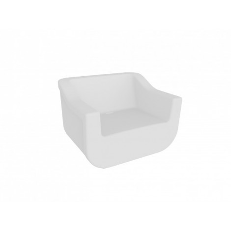 Polyethylene Club outdoor armchair with waterproof structure and available in several colors