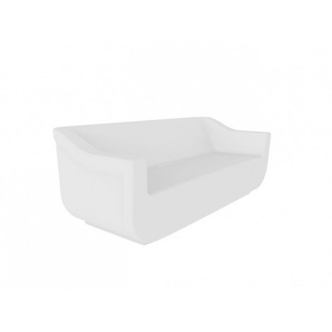 Polyethylene Club outdoor sofa with waterproof structure available in 4 different colors