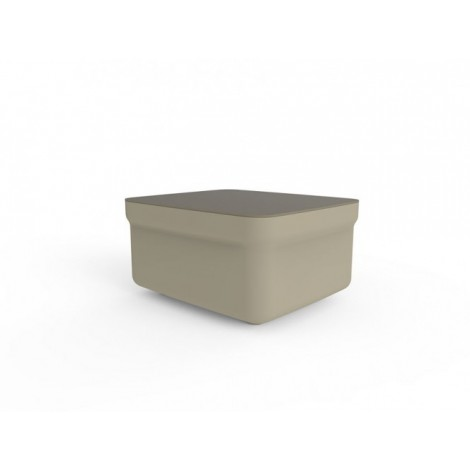 Polyethylene Club outdoor table made in Europe available in 4 colors