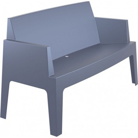 Urban outdoor sofa in stackable polypropylene available in various finishes