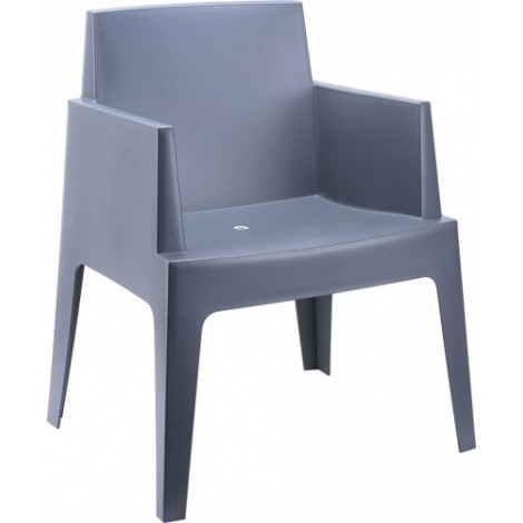 Urban outdoor armchair in stackable polypropylene available in three different finishes