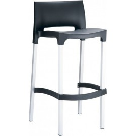 Rick outdoor stool with aluminum structure and polypropylene shell available in 4 colors