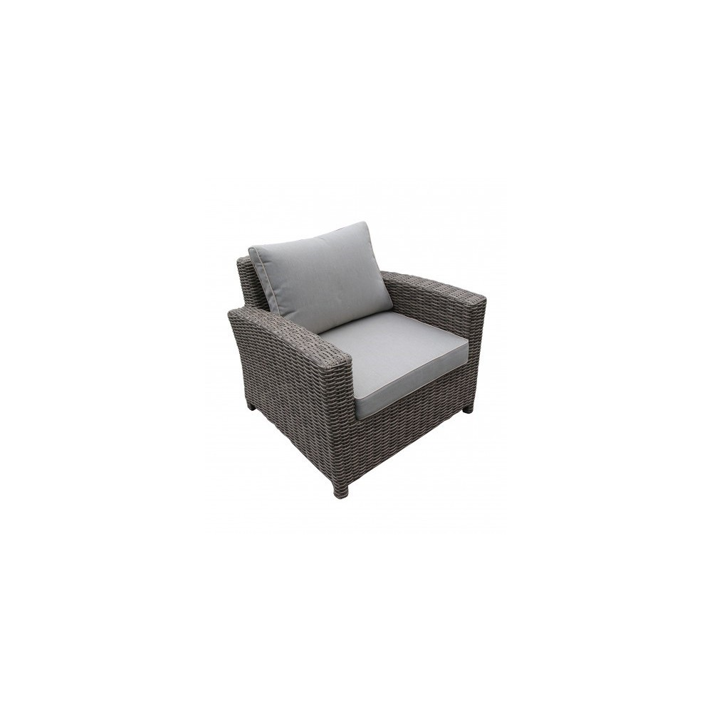 Orient outdoor armchair with aluminum structure and polyester resin shell