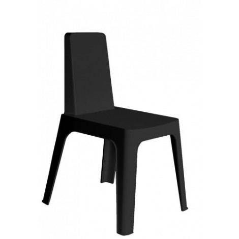 Julia outdoor chair in polypropylene with stackable structure available in various colors