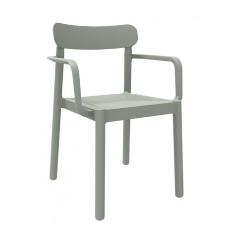 Elba outdoor chair in polypropylene with or without armrests available in many colors