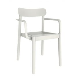 Elba outdoor chair in polypropylene with armrests or without available in many colors