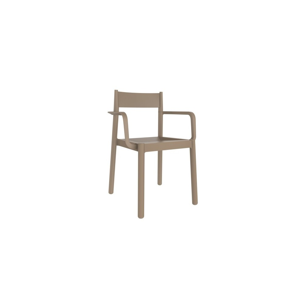 Outdoor chair danna in polypropylene with armrests or for Arredamento outdoor online