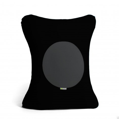 X FIVE pouf in elastic micro-fiber and breathable lycra padded with polyurethane foam spheres