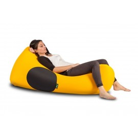 X-SHARK pouf bag in elastic microfiber and breathable lycra padded with polyurethane balls. Washable and removable