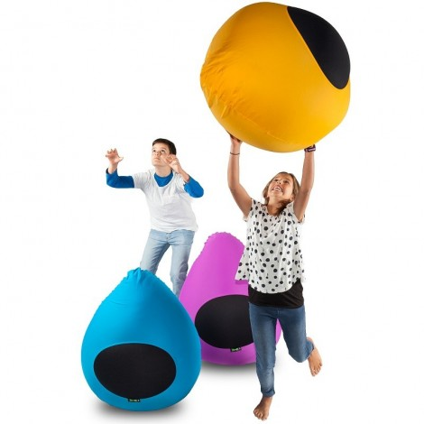 Pouf for children Junior 100% made in Italy in breathable elastic microfiber in the shape of a drop in various colors