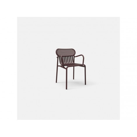 WEEK END outdoor armchair in aluminum available in various colors. Not stackable