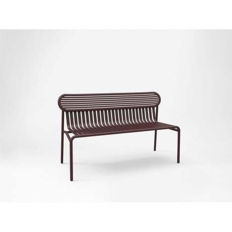 Outdoor Bench WEEK END in Aluminium Available in Several Colours