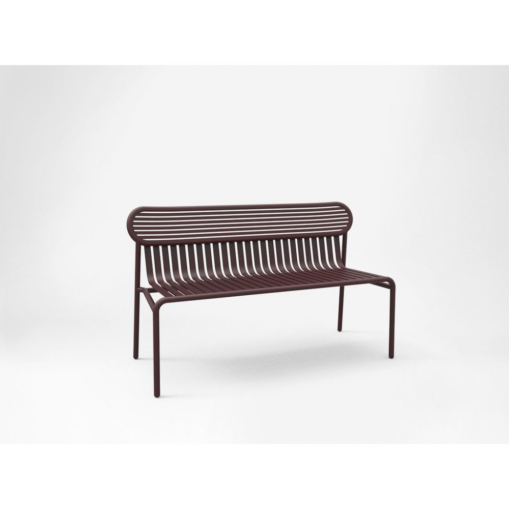 WEEK END outdoor bench in aluminum available in several colors