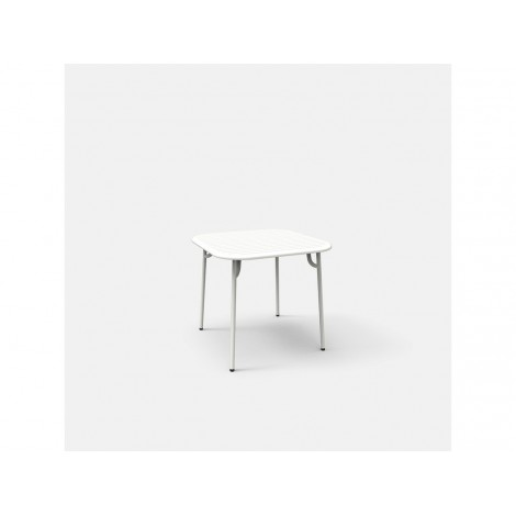 Fixed table for outdoor WEEK END in powder coated aluminum available in many finishes