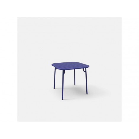 Fixed table for eternal WEEK END in powder coated aluminum available in many finishes