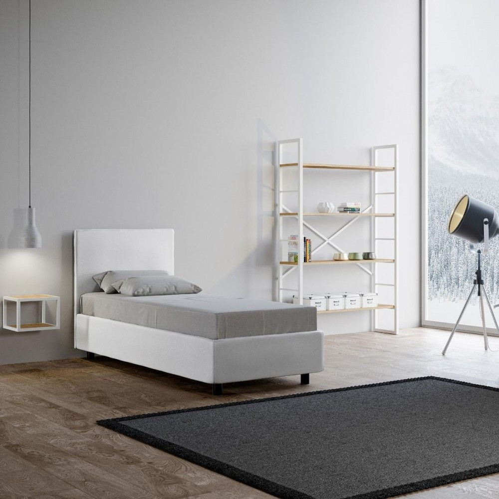 lit une place adele avec ou sans base coffre disponible en deux finitions et sommier lattes inclus. Black Bedroom Furniture Sets. Home Design Ideas