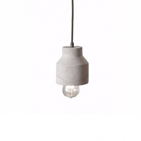 Tatius suspension lamp in concrete and fabric cable for lovers of the industrial genre