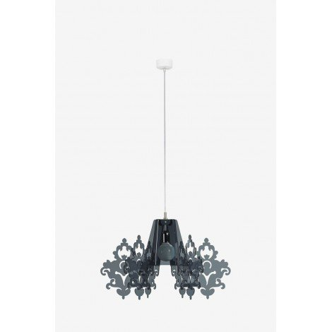 Amarilli suspension lamp with metal structure and methacrylic diffuser available in several colors