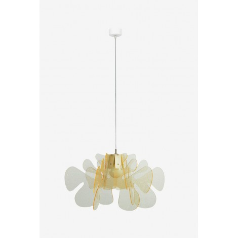 Aralia suspension lamp in methacrylate available in two finishes and two sizes