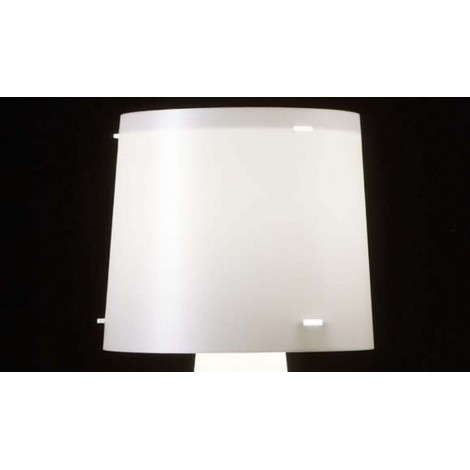 Diva floor lamp in pearl white polypropylene. Details in anti-reflective methacrylate. Base in white painted metal
