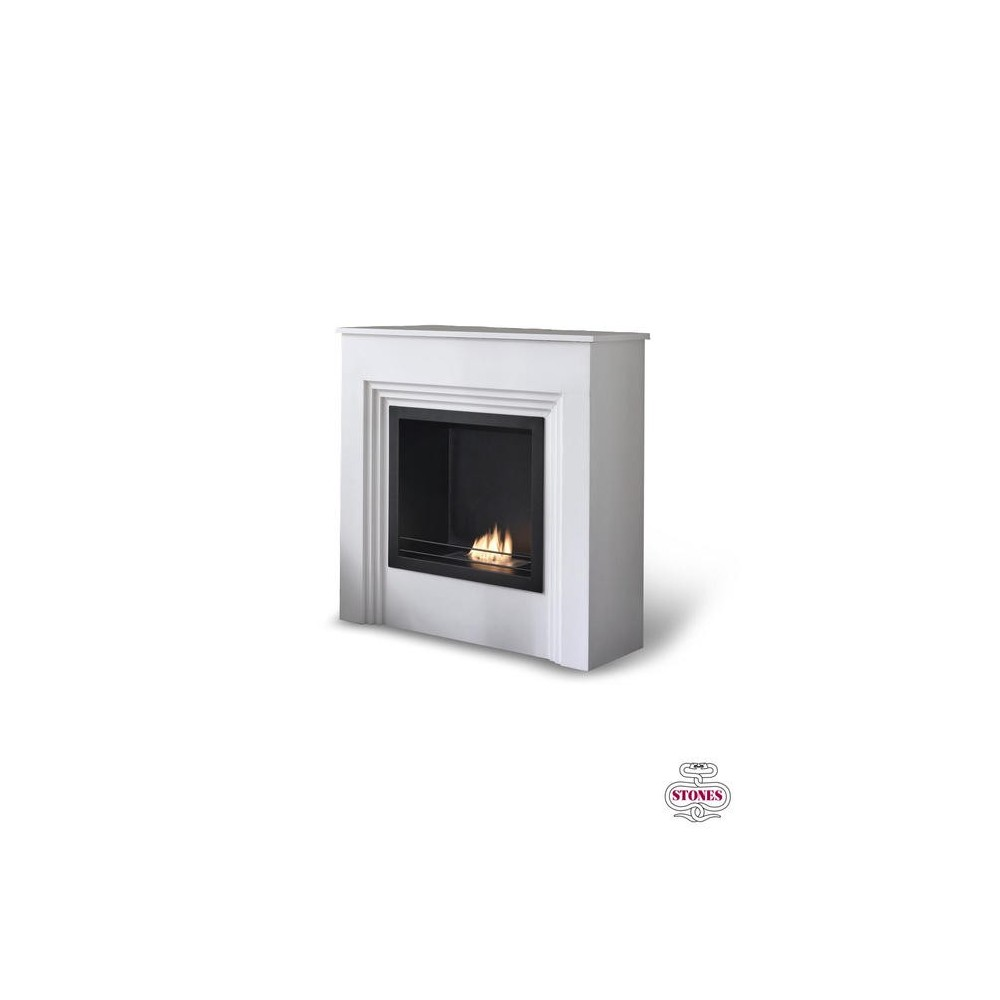 Gut gemocht Floor Bioethanol Fireplace Family with White Matt Painted MDF QY14