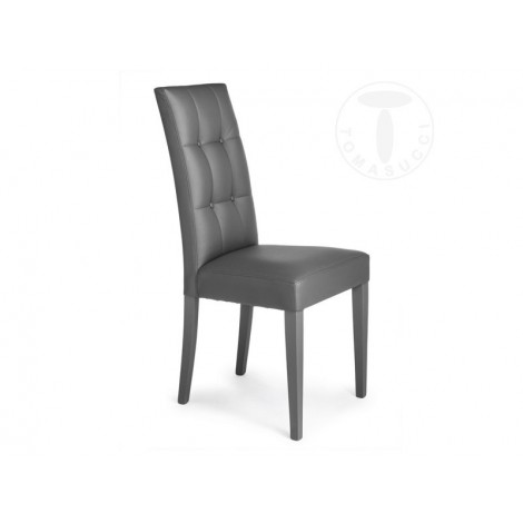 Dada chair by Tomasucci in wood covered in synthetic leather available in white, gray and brown